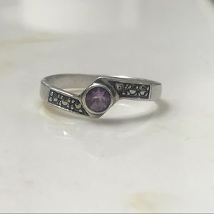 Sterling Silver Amethyst Ring, size 9